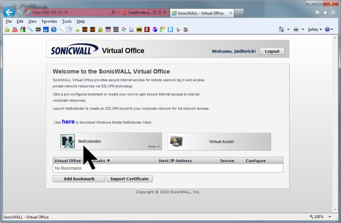 How to set up your Sonicwall SSL VPN client